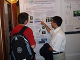 Dr. Stefan Stahl during a conversation at the presentation poster